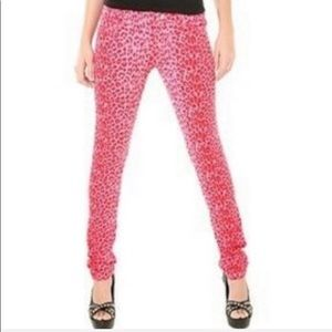 Tripp NYC pink & red cheetah jeans size 5
